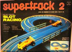 PLAYART: 1970s Super Track 2 Slot Racing Set #Vintage #Toys