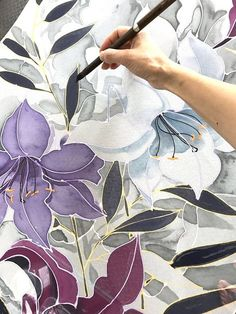 Bridal Chiffon Shawl, Gray Wedding shawl, Summer Wedding Shawl, Hand Painted Silk Shawl Wrap, Chiffon Scarf, Ethereal Gray and Purple Lily This is a large bridal chiffon shawl hand painted delicately with soft dove gray and lavender purple. This gorgeous gray wedding shawl is