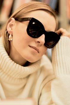 The Flared Satin Skirt Designer Shades, Satin Skirt, Women's Sunglasses, Womens Glasses, Big Black, Mode Inspiration, Fendi, Eyewear, Marc Jacobs