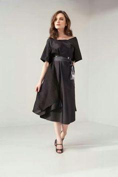 Tilt dress. 100% Thai silk.