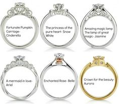 if the Disney princesses had wedding rings… :)