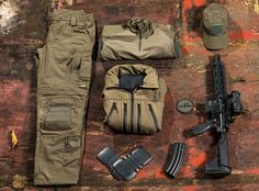 """Under the traditional """"RAL 7013″ color code, Brown Grey gear is becoming more and more popular within Special Forces, because it efficiently..."""