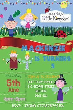 Personalised boy / girl ben and #holly birthday #party #invites inc envelopes, View more on the LINK: http://www.zeppy.io/product/gb/2/201506532323/