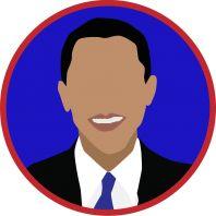 Obama Circle T-Shirt Design