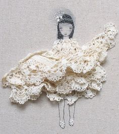 I love this! Pinterest has made me discover so many uses for those old doilies!