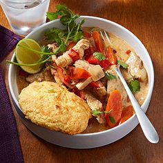 Slow-Cooker Southwest Chicken Potpie With Cheesy Biscuits
