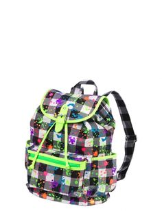 d69c574f92 Small Buffalo Check Paintsplatter Rucksack · Justice BackpacksJustice BagsAztec  ...