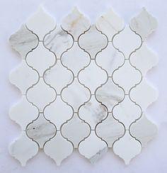 Calacatta Gold Italian Calcutta Marble Polished Lantern Arabesque Mosaic Tile - - Amazon.com