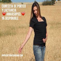 Camiseta de porteo y lactancia Amarsupiel de www.metodocanguro.com