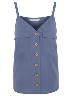 Navy Button Down Camisole Top | Women | George
