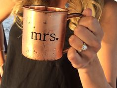 So fancy. <3 Copper mugs   http://coppermugs.storenvy.com/products/3688669-set-of-2-mr-and-mrs-copper-mugs