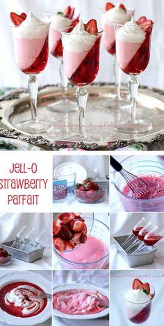 Two Toned Jello Parfait! (tutorial/recipe)    http://thecakebar.tumblr.com/post/18589765754/two-toned-jello-parfait-tutorial-recipe