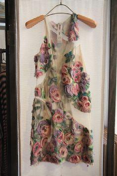 wonderful detail on Kenzo dress…