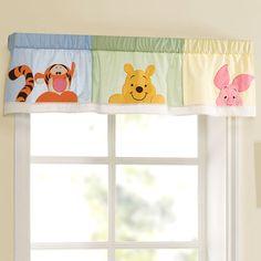 Winnie the Pooh Window Valance, Peeking Pooh