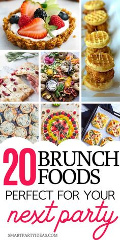 Make your next brunch a hit with these 20 delicious and super easy brunch party . Make your next brunch a hit with these 20 delicious and super easy brunch party food ideas. They come together quickly and are guaranteed to please a crowd. Menu Brunch, Brunch Mesa, Easter Brunch Menu, Brunch Buffet, Birthday Brunch, Mimosa Brunch, Dinner Menu, Brunch Party Foods, Christmas Brunch Menu