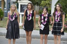 Pin for Later: The Killer Outfits on Pretty Little Liars Will Haunt You All Week Long Season 5 A close up — with the addition of some shocked faces. Source: ABC Family