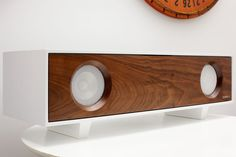 SYMBOL Audio have designed the Tabletop HiFi, a contemporary speaker cabinet that is decorative as well as functional.