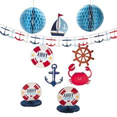 Nautical Baby Shower Decorating Kit - OrientalTrading.com