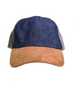 BENCH/ Baseball Cap in Denim Blue and Brown   #BENCHEveryday Baseball Cap, Blue Denim, Bench, Brown, Hats, Accessories, Fashion, Baseball Hat, Moda