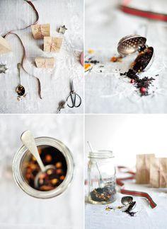Christmas Tea ••• Ingredients: orange pekoe tea, orange zest, pink peppercorns, cloves, cinnamon sticks, vanilla bean pod ••• Get the recipe @ http://ourkitchen.fisherpaykel.com/recipe/christmas-tea/