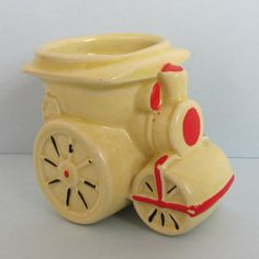Vintage Steamroller 1960s Novelty Egg Cup by TheCraftyCurioShop