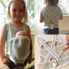 These crochet doll accessory ideas range from a fun carrier to a cute Halloween costume and crocheted diapers! Plus a free video pattern!