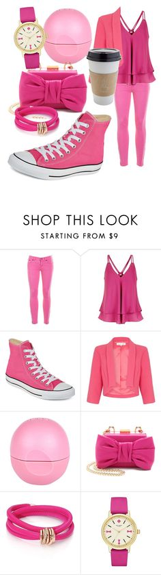 """""""Casual Pink"""" by egordon2 ❤ liked on Polyvore featuring J.Crew, Converse, Damsel in a Dress, River Island, Boutique Moschino, de Grisogono and Kate Spade"""