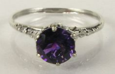 Beatuiful Victorian Amythest and Silver Ring by Nickydo on Etsy, $45.00