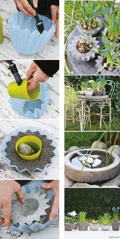 Vasos de concreto fofos! - Blog de decoração - Casa de Firulas