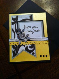 Thank you homemade card
