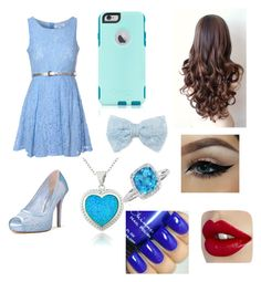 """All blue outfit"" by kittenrawrr on Polyvore featuring moda, Glamorous, OtterBox, Decree, Glitzy Rocks, Belk & Co., women's clothing, women, female y woman"
