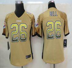 2f8c9aba5d5 Nike NFL Pittsburgh Steelers Jerseys  26 Le Veon Bell Drift Fashion Green  Elite Womens Jersey