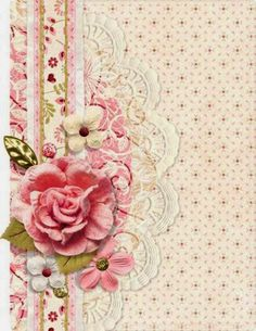 Vintage pink lace background