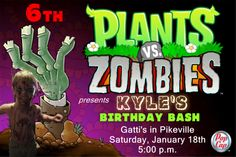 Zombie Birthday Invitation in 4x6. Contact me at aswiney01@yahoo.com to order this invitation for only $10. Or I can design any theme for any occasion. Click on the image to visit my facebook page or check out my pinterest board for other samples.