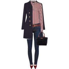 A fashion look from February 2016 by ruru833 featuring Tommy Hilfiger, Vanessa Seward, Frame Denim, Kate Spade, Barneys New York, women's clothing, women, femal...