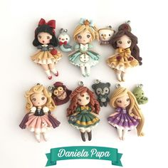 Polymer Clay Dolls, Clay Charms, Clay Creations, Sculpting, Kawaii, Photo And Video, Christmas Ornaments, Holiday Decor, Instagram