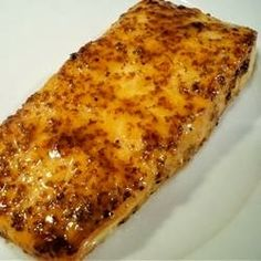 Salmon with Brown Sugar Glaze - This is my favorite recipe! I make this way too often. It's quick and easy! I serve this with rice and broccoli