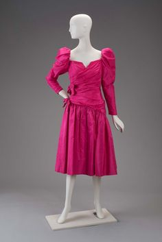 1980s, America - Silk cocktail dress by Arnold Scaasi