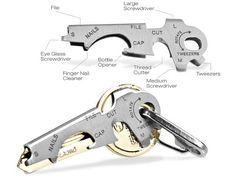 Mens Gadgets - KeyTool - Key Ring Tools -Multi purpose key tool, one of a Range of True Utility Mens Gadgets Camping Survival, Emergency Preparedness, Survival Gear, Mens Gadgets, Cool Gadgets, Unique Gadgets, True Utility, Gadget Gifts, Everyday Carry