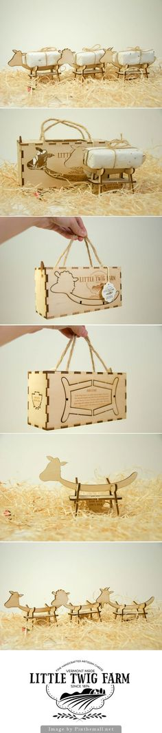 Little Twig Farm is just the cutest student cheese #packaging concept curated by Packaging Diva PD