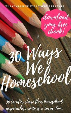 30 Ways We Homeschool eBook