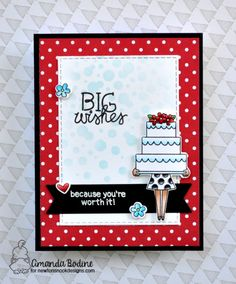 Big Wishes Cake Card By Amanda Bodine