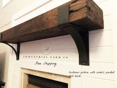This Fireplace Mantel Mantel Decor Rustic Mantel Farmhouse is just one of the custom, handmade pieces you'll find in our wall décor shops. Rustic Fireplaces, Foyer Decorating, Farmhouse Fireplace, Metal Shelves, Mantel Brackets, Metal Shelf Brackets, Farmhouse Mantel, Rustic Mantel, Fireplace