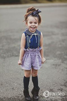 Paperbag shorts gorgeous! I want to put this little girl in my pocket! adorable!