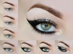 Black Cat Eye #tutorial #eyeshadow #eyemakeup  #blackliner - bellashoot