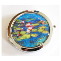 Monet Water Lilies Compact Mirror Mirror Purse Mirror Compact Mirror... (145 SEK) ❤ liked on Polyvore featuring beauty products, beauty accessories, bath & beauty, grey, hand & pocket mirrors, makeup & cosmetics and makeup tools & brushes