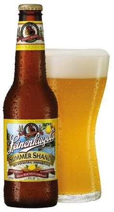 Leinenkugel Summer Shandy is an outstanding, refreshing beer with a slight hint of lemonade, that is very much in the spirit of a German Kristall Weizen, served with slice of lemon.