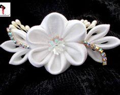 Tiara White Swan  kanzashi wedding bridal