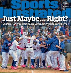 SI cover touts Cubs as 'last great American sports story' - Chicago Tribune Chicago Cubs Fans, Chicago Cubs World Series, Chicago Cubs Baseball, Baseball Boys, Football, Si Cover, Cubs Games, Christian Mccaffrey, Sports Illustrated Covers