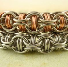 Captured Inverted Round Bracelet  - Intermediate Kit - You PICK - Chainmaille on Etsy, £25.21